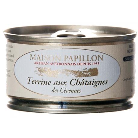 Terrine aux chataignes de Cévennes 130 gr, maison Papillon