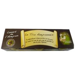 Le trio Aveyronnais, bloc de foie gras de Canard