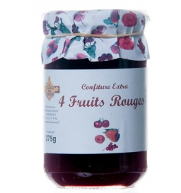 Confiture aux 4 fruits rouges 370 gr