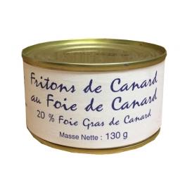 Friton de canard 130 gr, 20% foie gras de canard