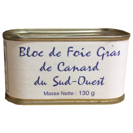 Bloc de foie gras de canard du Sud Ouest