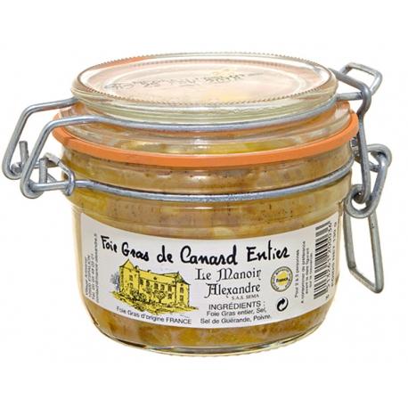 Foie gras de canard entier bocal 130 gr, manoir d'Alexandre