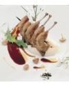 Cuisses de caille cuites dans la graisse de canard, manoir d'Alexandre