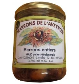 Marrons entiers de l'Aveyron 350 gr