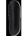 Fourreau noir 11 cm, cuir d'Aubrac, forge de Laguiole