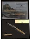 Couteau de Laguiole 11 cm Sable du Mont-Saint-Michel, mitres inox