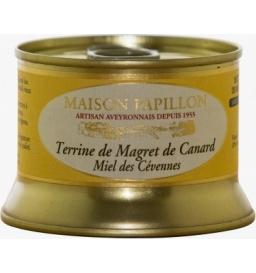 Terrine de magret de canard au miel 130 gr, maison Papillon