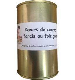 Coeur de canard farcis au foie gras 300 gr, Céline Jeanjean