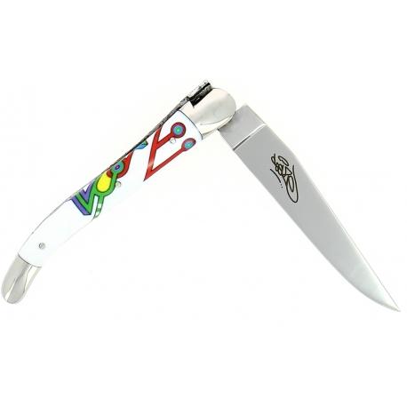 Couteau pliant Seize 11 cm – Sublimation Street Art «Altaïr », Forge de Laguiole