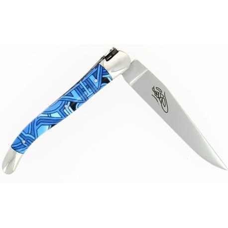 Couteau pliant Seize 11 cm – Sublimation Street Art «Vega », Forge de Laguiole