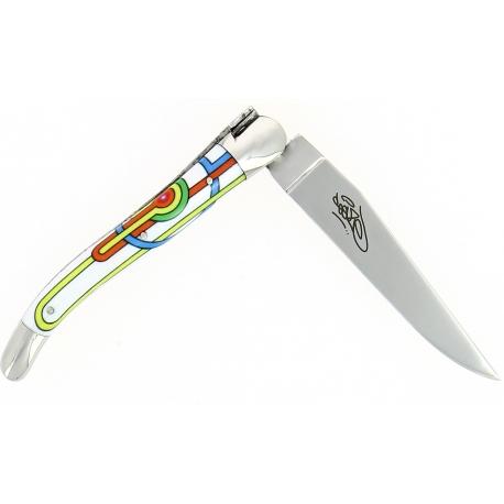 Couteau pliant Seize 11 cm – Sublimation Street Art «Sirius», Forge de Laguiole