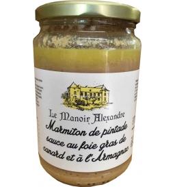 Marmiton de pintade sauce au foie gras de canard et à l'Armagnac, 650 gr, manoir d'Alexandre