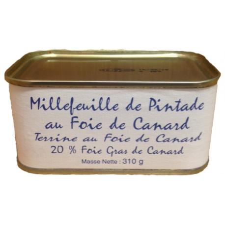 Millefeuille de pintade au foie de canard, 310 gr