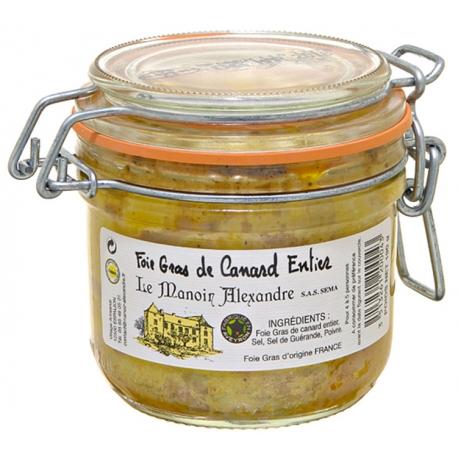 Foie gras de canard entier bocal, manoir d'Alexandre