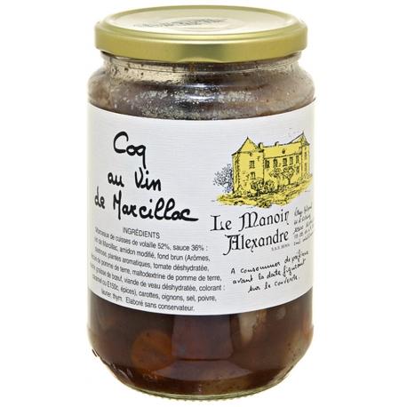 Coq au vin de Marcillac 650 gr, manoir d'Alexandre