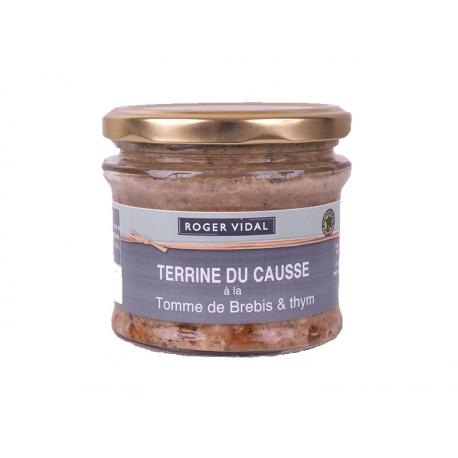 Terrine du Causse à la tome de brebis 180 gr, maison Vidal